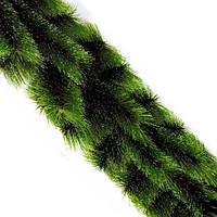 Гирлянда сосновая Mimosa двухцветная, заснеженная, 2,5м, (светло/темно-зеленая), ПВХ, сосновые гирлянды, сосны новогодние, елка