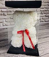 Мишка из 3D роз 25 см в красивой подарочной упаковке мишка Тедди из роз! Акция