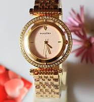 Наручные кварцевые часы HS0063 с металлическим браслетом золотистого цвета, фото 1