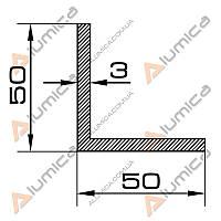 Уголок алюминиевый 50х50х3 мм без покрытия ПАС-1895 (БПО-0245)