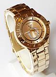 Наручные кварцевые часы HS0070 с металлическим браслетом золотистого цвета, фото 2