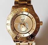 Наручные кварцевые часы HS0070 с металлическим браслетом золотистого цвета, фото 6