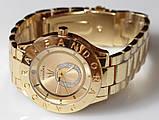 Наручные кварцевые часы HS0070 с металлическим браслетом золотистого цвета, фото 3