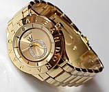 Наручные кварцевые часы HS0070 с металлическим браслетом золотистого цвета, фото 4