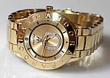 Наручные кварцевые часы HS0070 с металлическим браслетом золотистого цвета, фото 7