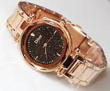 Наручные кварцевые часы HS0076 с металлическим браслетом золотистого цвета, фото 4