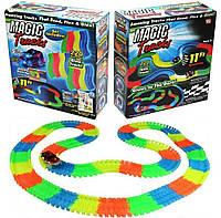 Magic Tracks гнущий светящийся трек 220 деталей, Меджик трек гоночная трасса, конструктор - подарок для детей! Акция