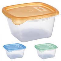 """Контейнер пластиковый для пищевых продуктов """"Sun"""", PT82255 объем 1.2л квадратный, контейнер для продуктов, посуда, кухонные аксессуары"""