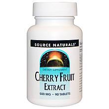 "Экстракт плодов вишни Source Naturals ""Cherry Fruit Extract"" 500 мг (90 таблеток)"
