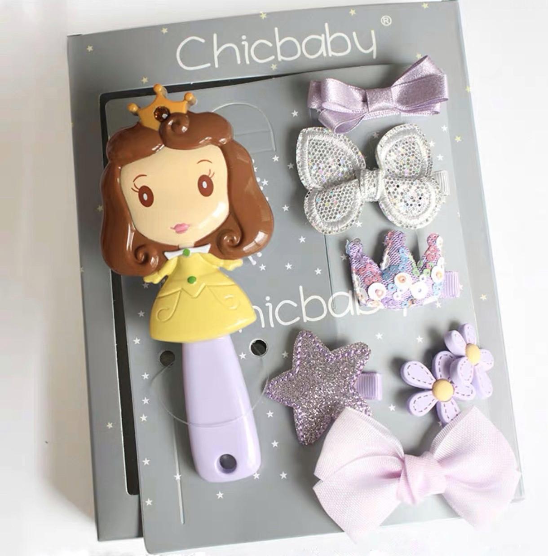 Набор детских аксессуаров заколки и расческа для девочек младшего возраста Принцесса София