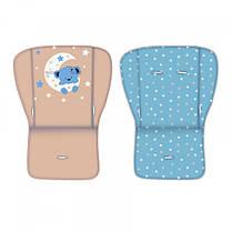 Коляска для двійні Lorelli TWIN (blue/beige moon bear)