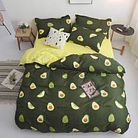 Комплект постельного белья Авокадо (двуспальный-евро) Berni