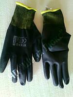 Перчатки нейлоновые с ПУ покрытием(точные работы)