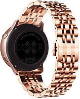 Ремешок стальной  BeWatch  20 мм Link для Samsung Galaxy Watch 42 / Active   GTR42 мм Розовое золото (1012438), фото 1