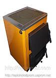 Котёл 10П «Огонек» Сталь 4 мм для твёрдого топлива с варочной чугунной плитой., фото 4