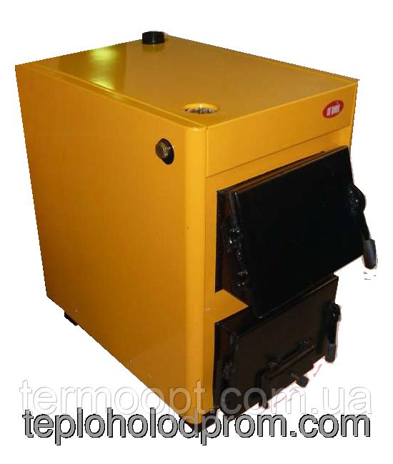 Котёл ОГОНЁК 18 Д (для дров) Дровяной котел удлиненный на 18 кВт. Сталь 4 мм. Печь для дома и др. помещений.