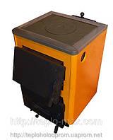 Котёл для твёрдого топлива КОТВ-14 П Сталь 3мм с чугунной плитой, комфоркой.От производителя Старобельский СМЗ