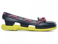 Женские мокасины Сrocs Beach Line Boat Shoe Purple Green Pink