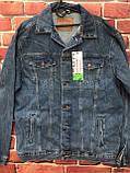 Модный мужской джинсовая Куртка больших размеров, фото 3