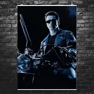 """Плакат """"Терминатор 2, Terminator 2, Судный День, Арнольд Шварценеггер"""". Размер 60x43см (A2). Глянцевая бумага"""