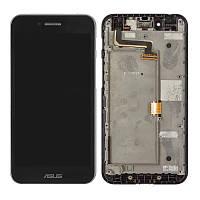 Дисплей (LCD) Asus PF500KL PadFone S | PF-500KL | PF500 | T00N с тачскрином и рамкой, чёрный