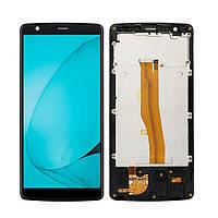 Дисплей (LCD) Blackview A20 | A20 Pro с тачкрином и рамкой, чёрный