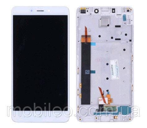 Дисплей (LCD) Xiaomi Redmi Note 4 (MediaTek) с тачскрином и рамкой, белый