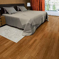 Паркетна дошка Focus Floor Дуб Lombarde 3-смуговий, коричневий матовий лак