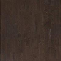 Паркетная доска Focus Floor Ясень Hurricane 3-полосный, темно-коричневый матовый лак