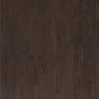 Паркетна дошка Focus Floor Ясен Hurricane 3-смуговий, темно-коричневий матовий лак