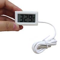 Термометр цифровой с выносным датчиком (Белый), фото 1