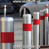 Столбики из нержавеющей стали высотою 75 см диаметр 89 мм СН-89-500