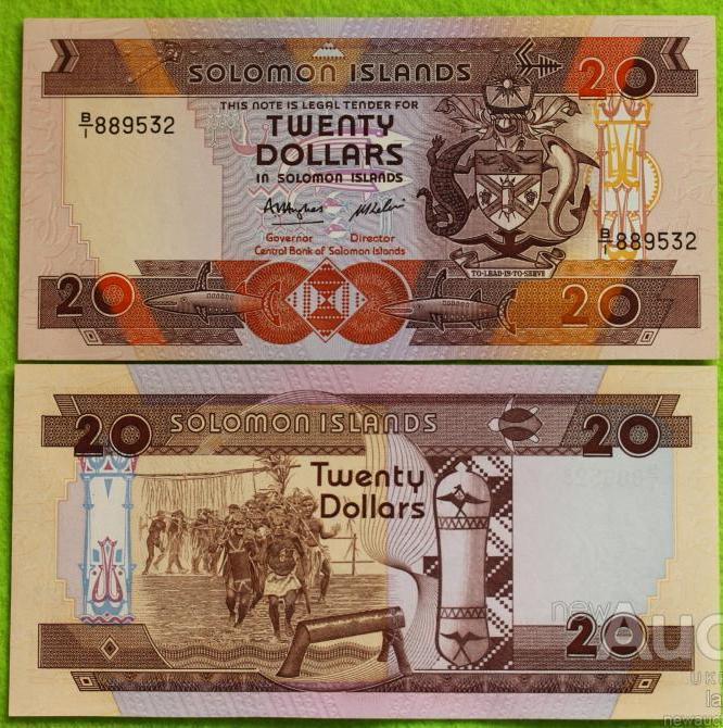 Соломоновы острова  - Solomon Islands 2008 - 20 dollars  UNC