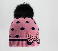 Теплая зимняя шапка на девочку