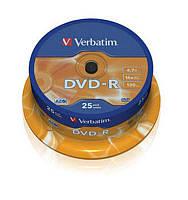 Verbatim Диски DVD-R (43522) 4.7GB Cake Box (25pcs) 16x