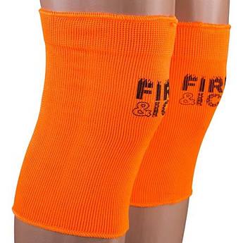 Наколінник еластичний Fire&Ice, розмір універсальний, пара, помаранчевий.