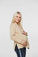 Худи с разрезами для кормящих и беременных Lullababe Ottawa Бежевый S, фото 1