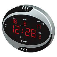 VST Часы настенные 770-Т1 Red LED+БП+ДУ
