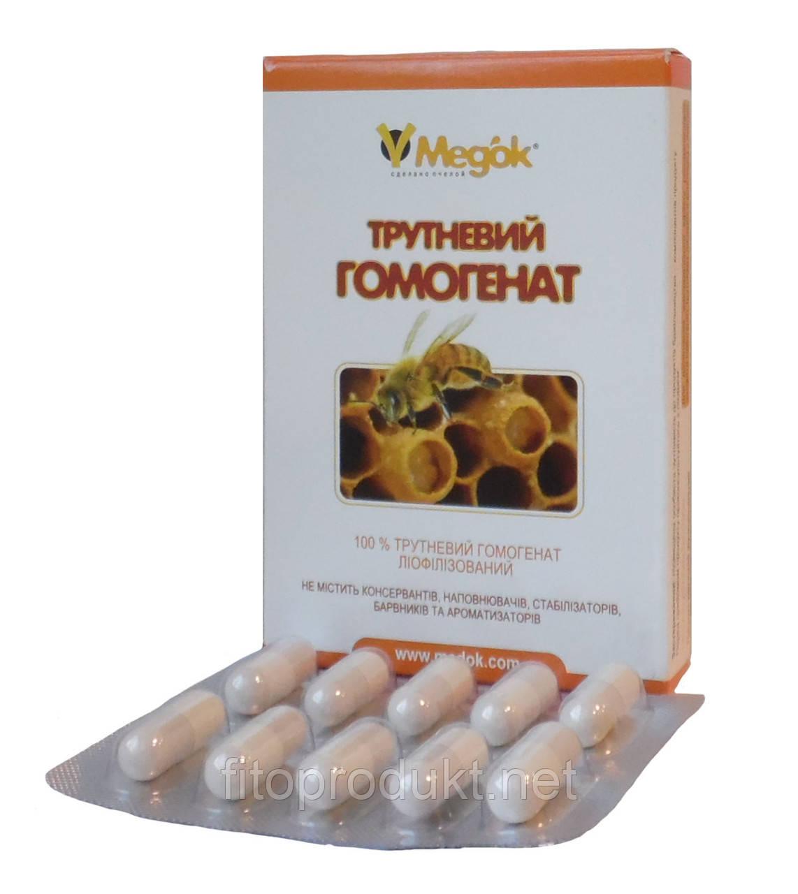 Трутневый гомогенат или трутневое молочко лиофилизованный 10 капсул Медок