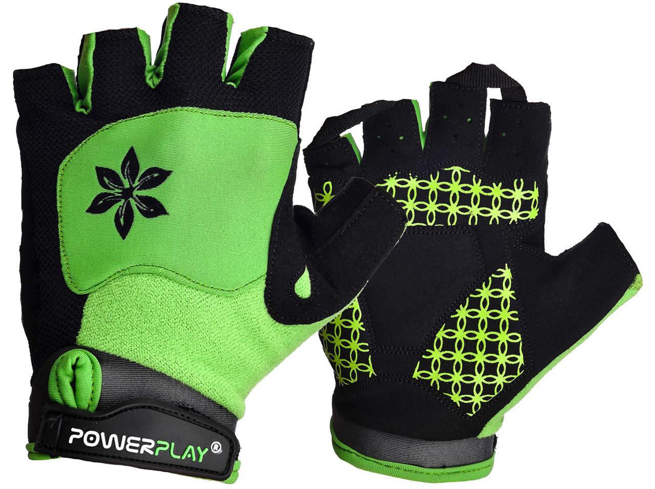 Перчатки велосипедные без пальцев 5284 B Зелені M