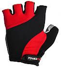 Перчатки велосипедные ӏ велоперчатки 5041 D Чорно-червоні M, фото 2