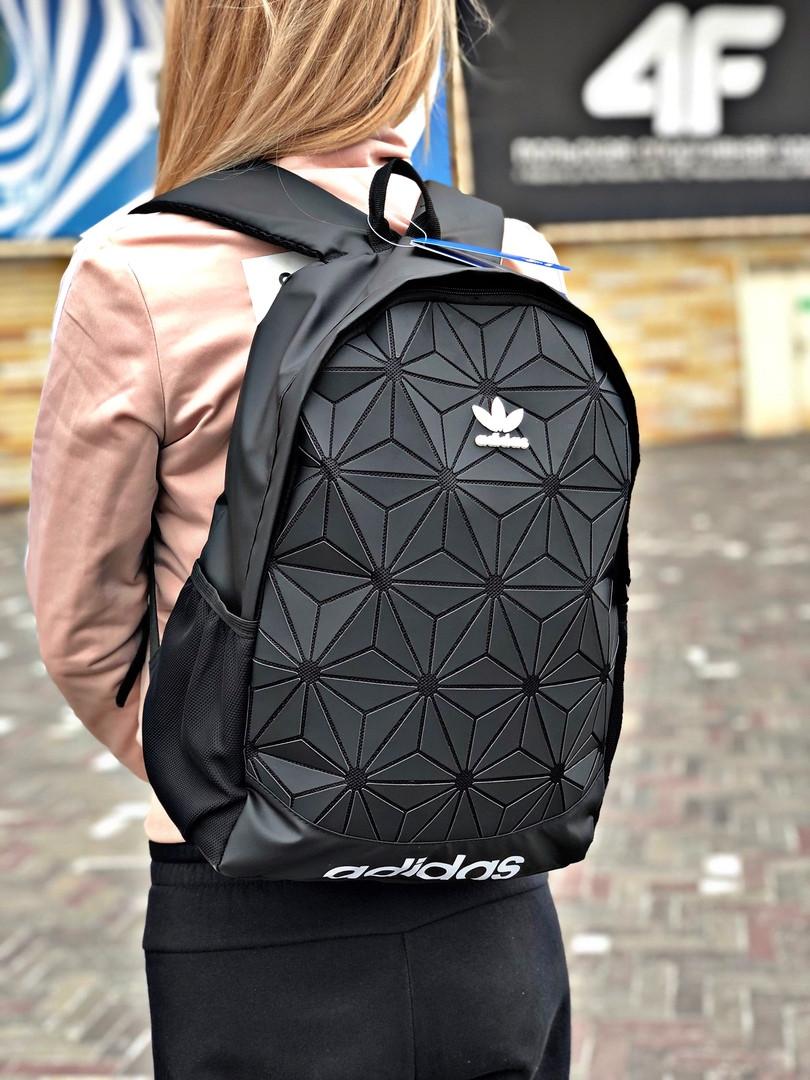 Рюкзак Adidas 3D Urban Mesh черного цвета. Стильный рефлективный городской рюкзак. ТОП КАЧЕСТВО!!! Реплика.