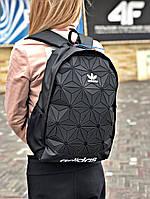 Рюкзак Adidas 3D Urban Mesh черного цвета. Стильный рефлективный городской рюкзак. ТОП КАЧЕСТВО!!! Реплика., фото 1