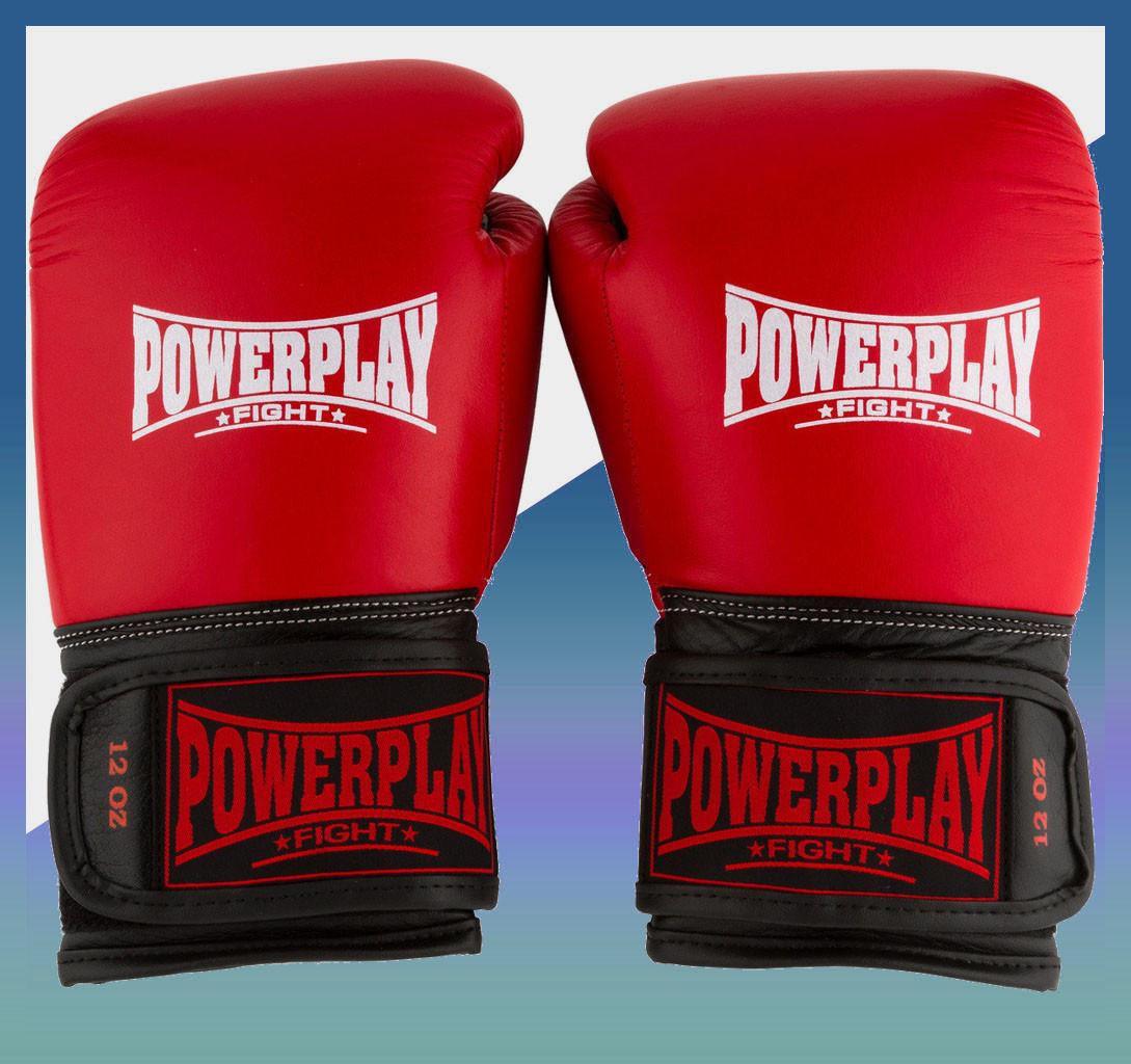 Боксерские перчатки 3015 Червоні [натуральна шкіра] 10 унцій