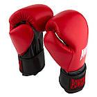 Боксерские перчатки 3015 Червоні [натуральна шкіра] 10 унцій, фото 4
