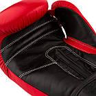 Боксерские перчатки 3015 Червоні [натуральна шкіра] 10 унцій, фото 5