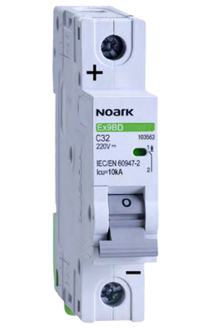 Автоматический выключатель для DC Noark C 16А 1P Ex9BD 103559, фото 2