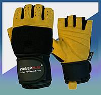 Перчатки для фитнеса, зала, турника, бодибилдинга, жима Чорно-Коричневі S