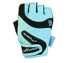 Перчатки женские для фитнеса и занятий в спортзале Блакитні M, фото 3