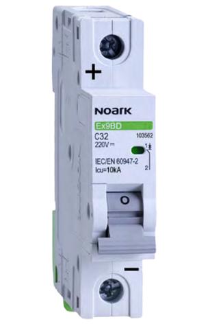Автоматический выключатель для DC Noark C 25А 1P Ex9BD 103561, фото 2